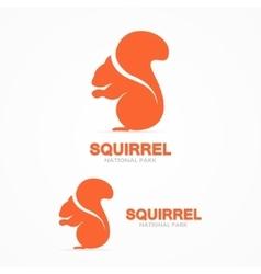 set squirrel logo vector image