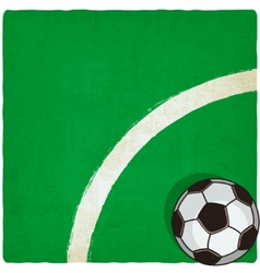 soccer old background vector image