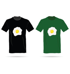 T-shirt with eggs vector