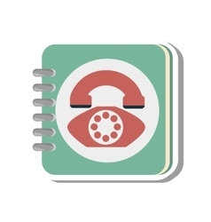 Telephone agend isolated icon vector