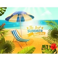 Tropical Resort Cartoon vector image