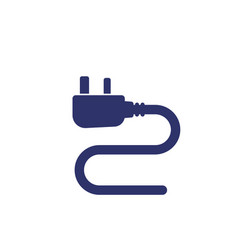 Uk electrical plug icon on white vector