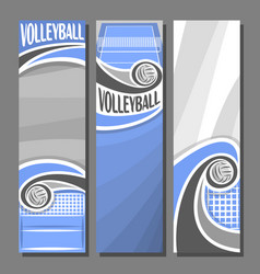 vertical banners for volleyball vector image