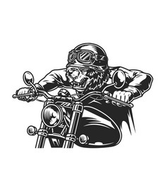 Vintage motorcycle monochrome template vector