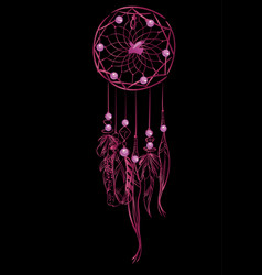With pink luxury dream catcher vector
