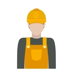 Worker with uniform and helmet vector
