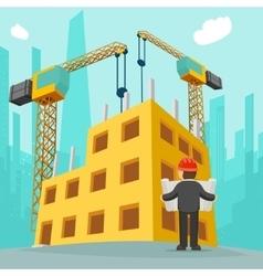 Building construction cartoon vector image vector image
