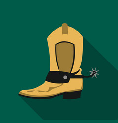 cowboy boot icon flate singe western icon from vector image