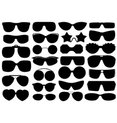 Different sunglasses vector image vector image