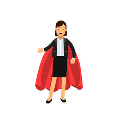 full body portrait of business woman with red vector image vector image