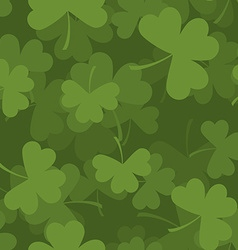 Green clover seamless pattern 3D background for vector image vector image