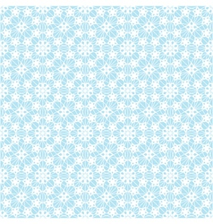 lace white pattern on blue background vector image vector image