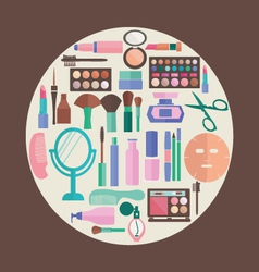 pattern MakeUp and beauty cosmetic Symbols pattern vector image vector image