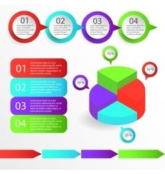 Set of infographics diagram vector image