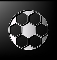soccer ball sign gray 3d printed icon on vector image vector image