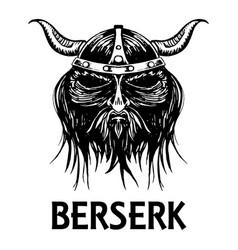 berserk or berserker warrior head icon vector image