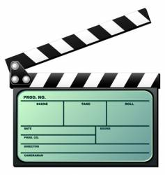 clapboard with LCD vector image vector image