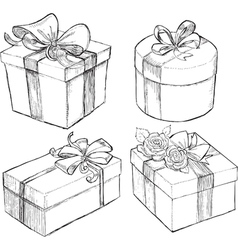 Drawn Present Boxes vector image