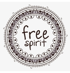 free spirit boho style vector image