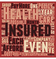 How To Get Cheap Health Insurance Online In vector image vector image