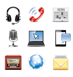 set communication vector image