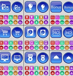 SMS Light bulb Bonus Shopping bag Hard drive No vector image vector image