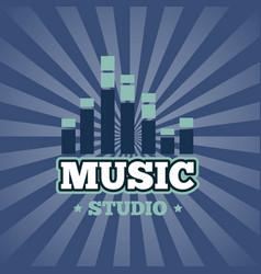 sound record studio logo badge emblem vector image