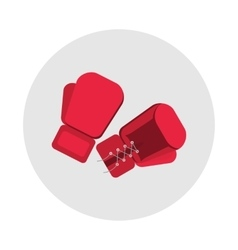 sports equipment red boxing gloves vector image