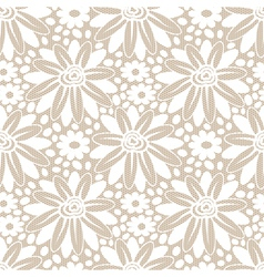 White flower seamless lacy background vector image