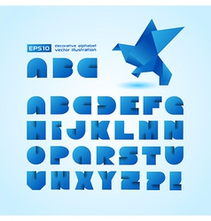 Decorative Alphabet With Origami Object vector image vector image