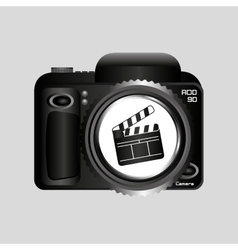 digital photo camera clapper film pin vector image