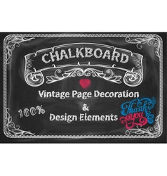 Page Decoration and Design Elements chalkboard vector image