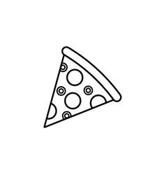 pizza slice line icon food drink elements vector image