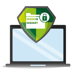 cyber security technology data password lock vector image vector image