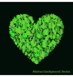 Green heart with abstract textures Love and vector image vector image