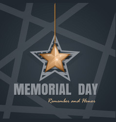 memorial day card design vector image