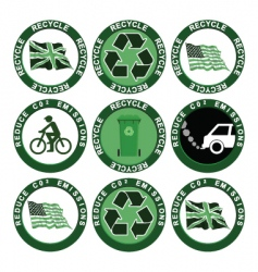 recycling collection vector image