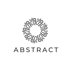 abstract logo design linear circle symbol for vector image