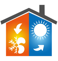 air conditioning symbol icon logo vector image