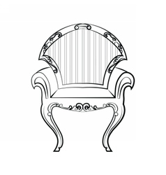 Armchair Furniture in classic style vector