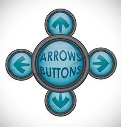 Arrow design vector image