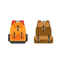 Backpacks isolated school vector