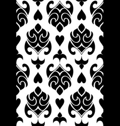 Black and white ornament vector