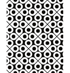 Black and white ornamental seamless pattern with vector