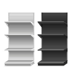 Black and white shelves vector