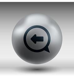 Blue arrowleft symbol business white background vector image