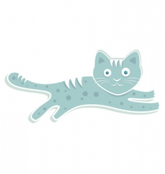 blue cat vector image vector image