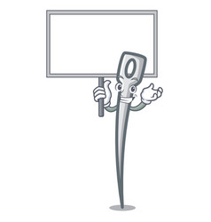 bring board needle character cartoon style vector image
