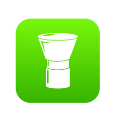 brush powder icon green vector image