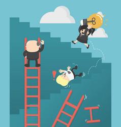 business concept cartoon success no shortcuts vector image